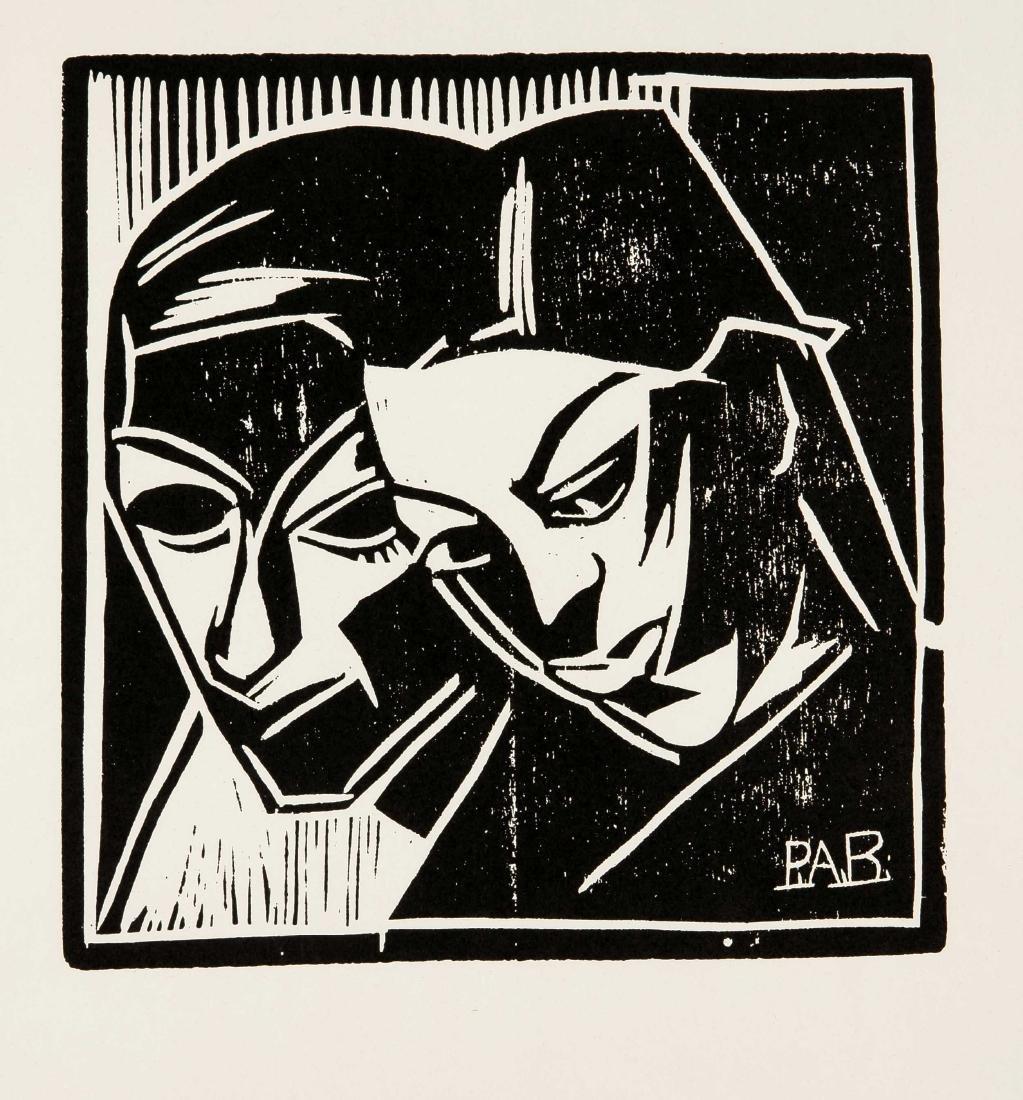 Peter August Böckstiegel (1889-1951), zwei Köpfe,