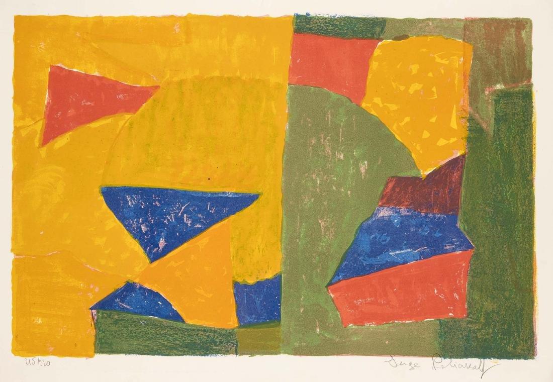 Serge Poliakoff (1900-1969), russischer Maler und einer