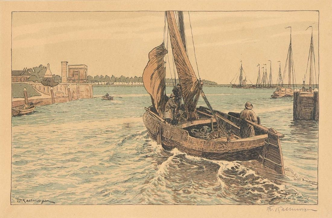 """Friedrich Kallmorgen (1856-1924), """"Ausfahrende"""