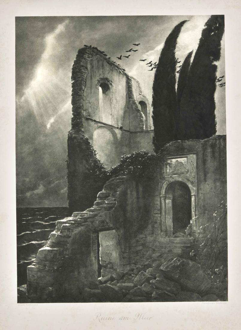 Arnold Böcklin (1827-1901), after, ''Ruine am Meer'',