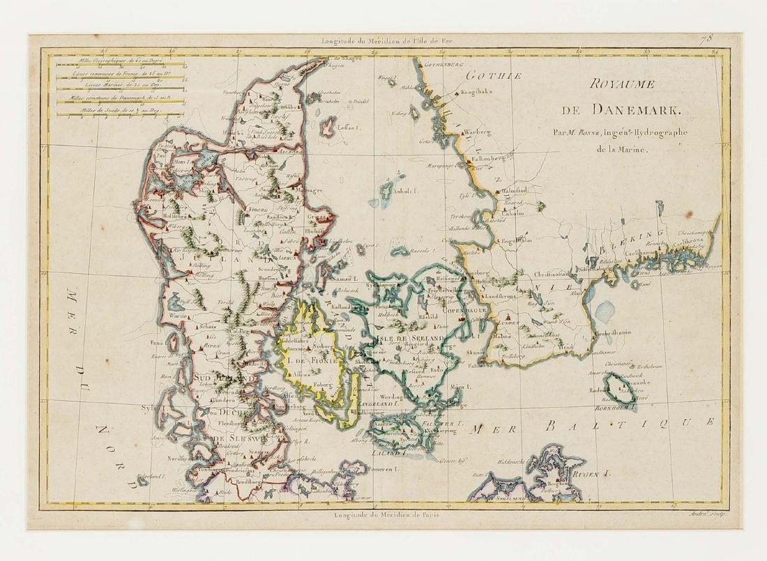 Convolute of three historical maps of Scandinavia, - 2