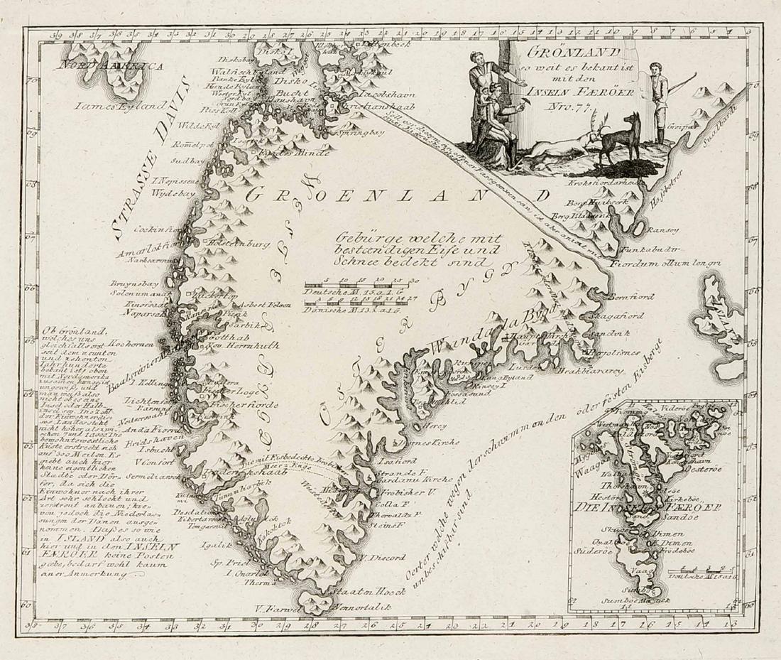 Convolute of three historical maps of Scandinavia, - 3
