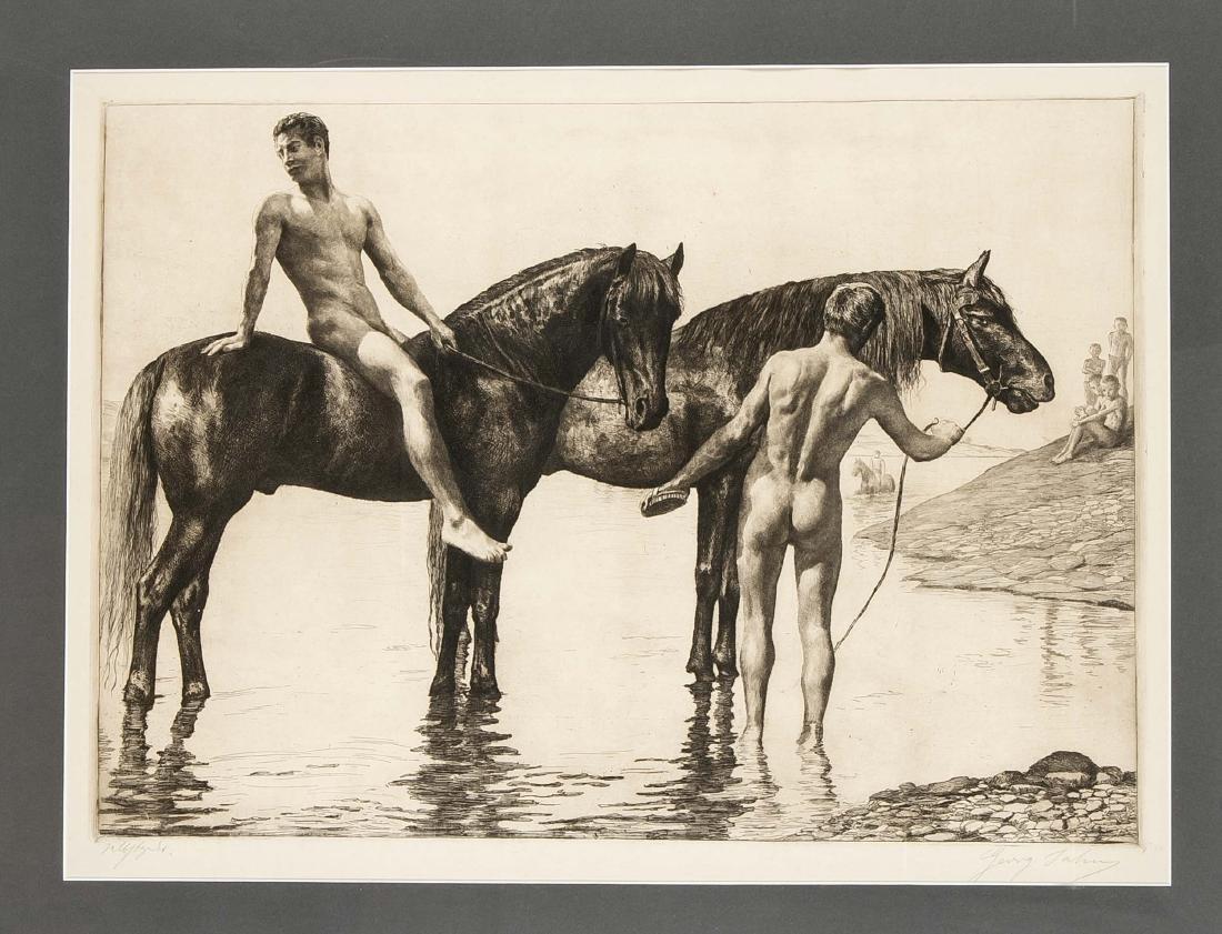 Georg Jahn (1869-1940), graphic artist from Dresden,