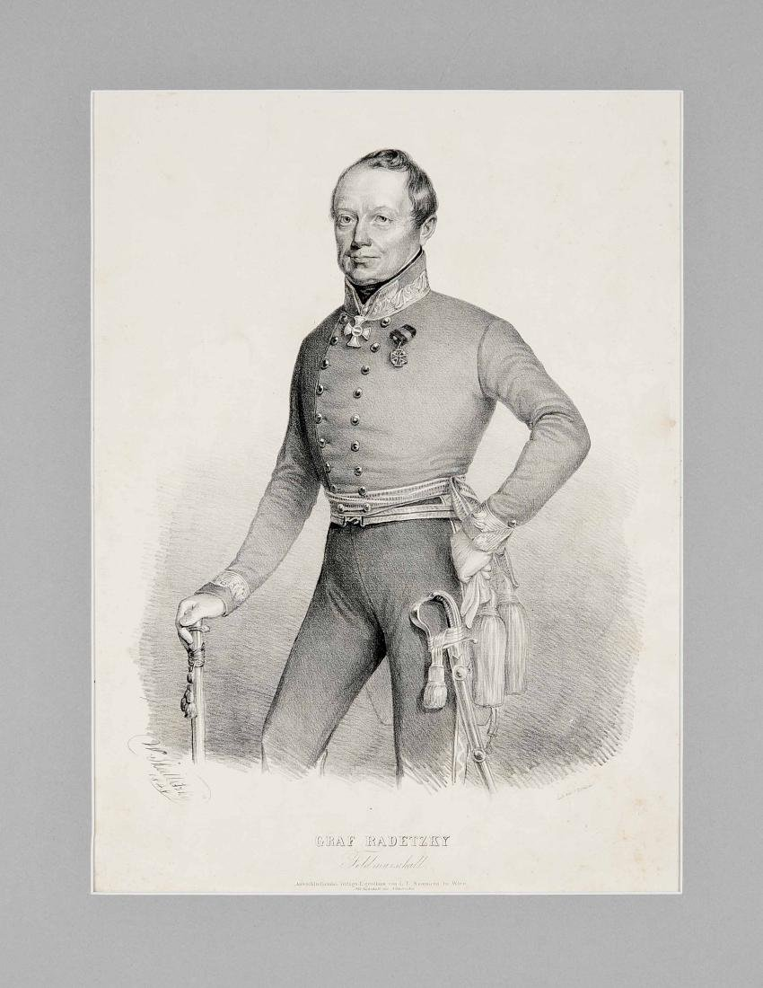 Generals, mixed lot of 4 printed graphics of 18./19.
