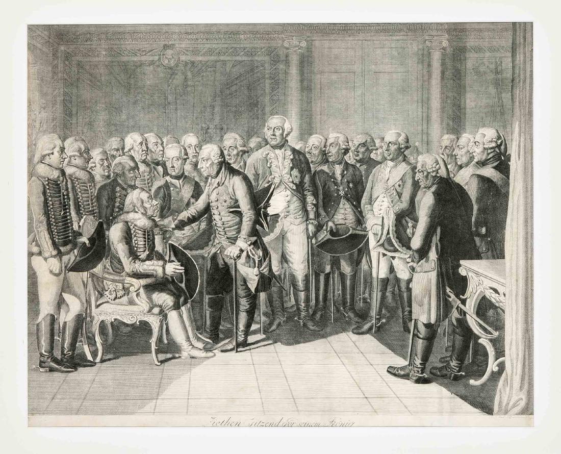 """Daniel Nikolaus Chodowiecki (1726-1801), nach, """"Ziethen"""
