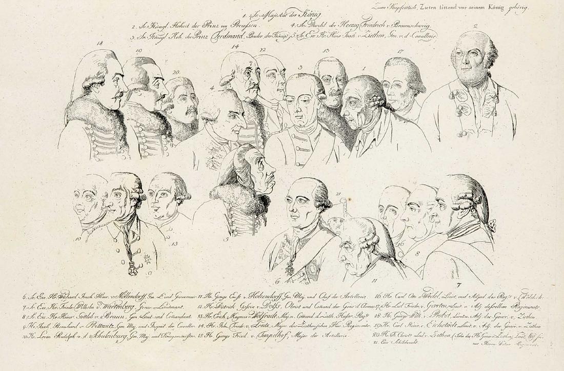 """Daniel Nikolaus Chodowiecki (1726-1801), nach, """"Ziethen - 2"""