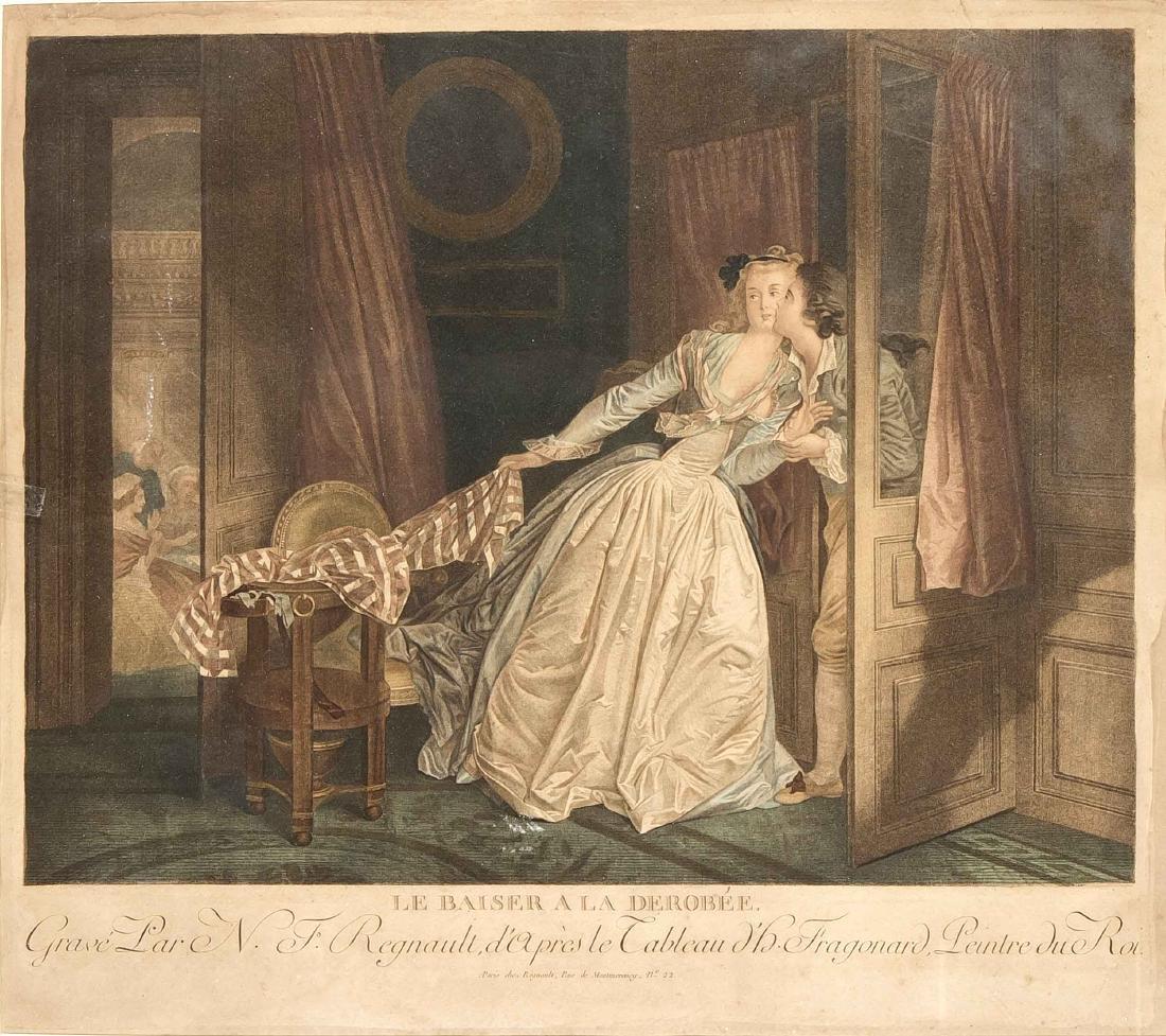 Nicolas François Regnault (1746-ca.1810), ''Le Baiser