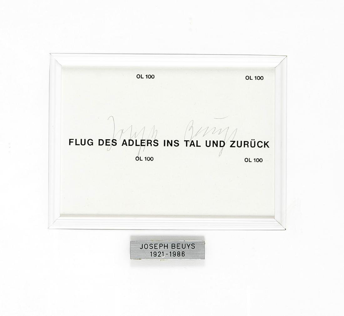 Joseph Beuys (1921-1986), ''The Flight of the Eagle