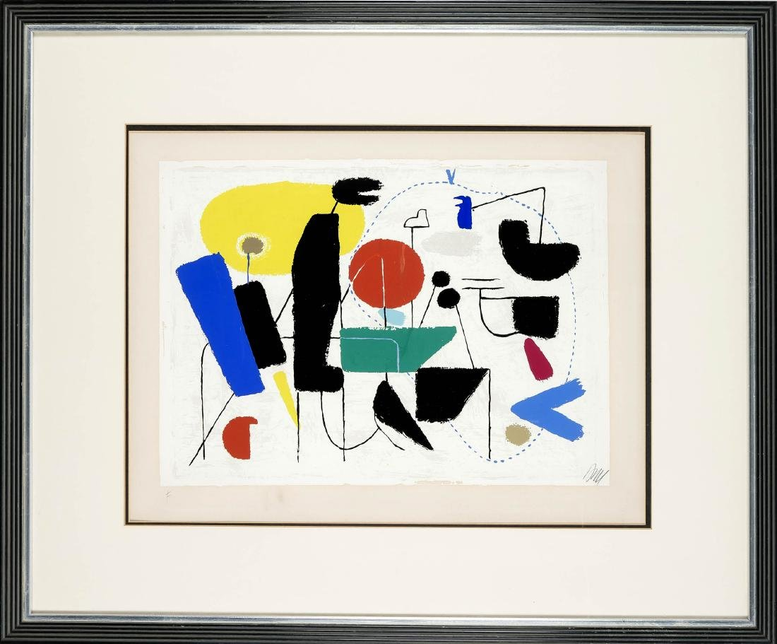 Willi Baumeister (1889-1955), ''Allegro'', 1954, color