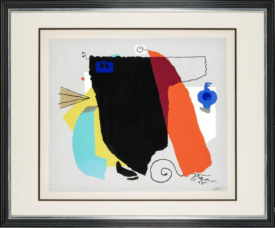 Willi Baumeister (1889-1955), ''Phantom'', 1951, color