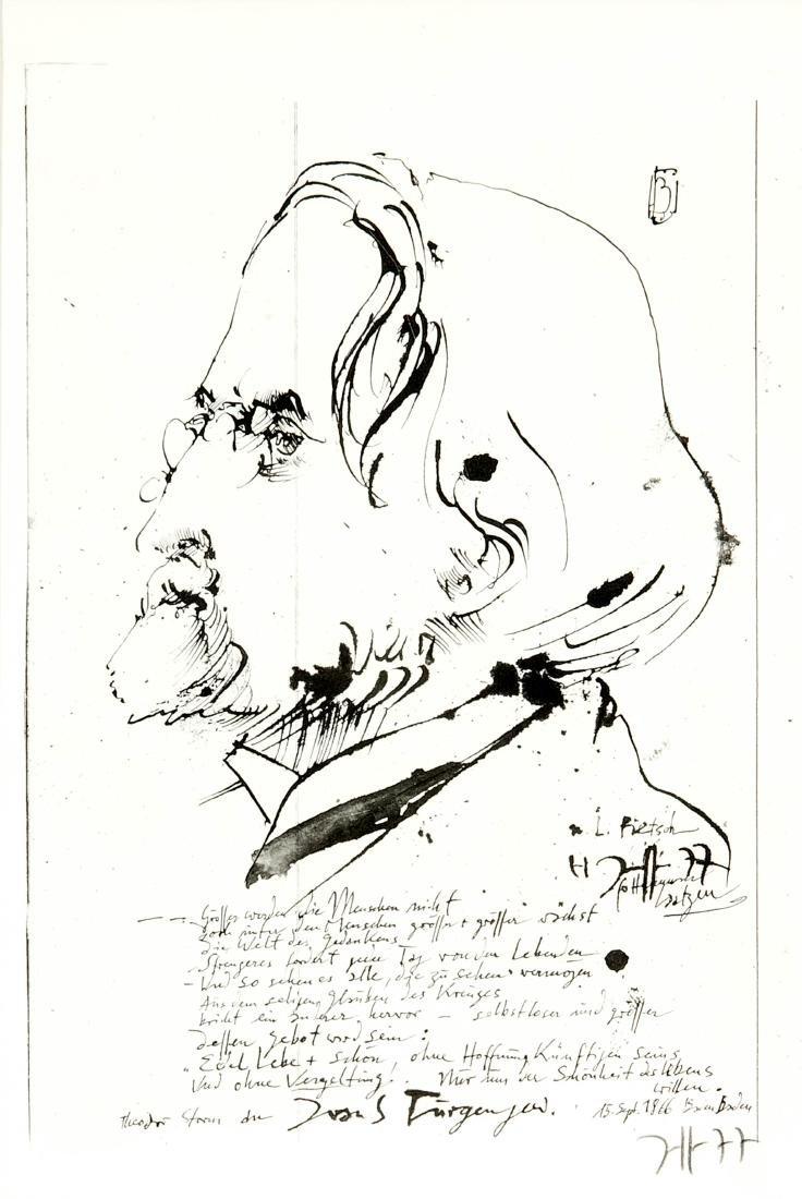 Horst Janssen (1929-1995), zwei Grafiken mit den