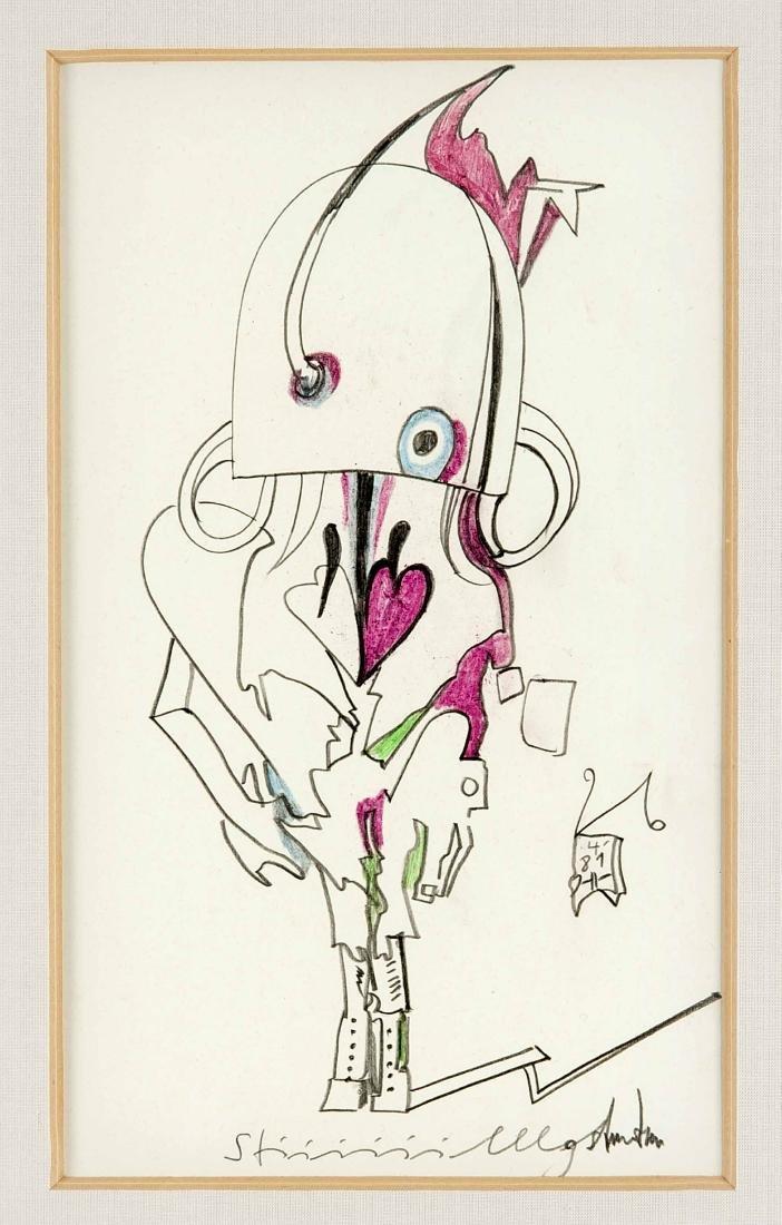 "Horst Janssen (1929-1995), ""Stiiiiilllgestanden"", orig."