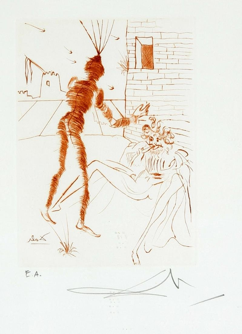 Salvador Dalí (1904-1989), etching with drypoint in