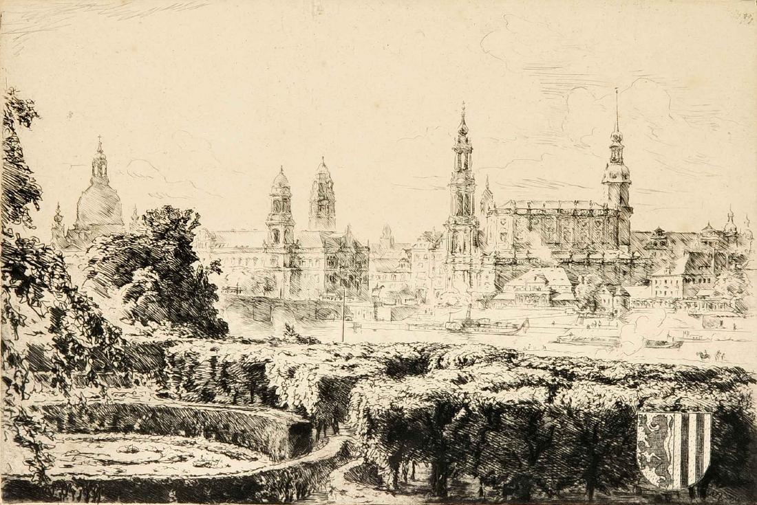 Anonymer Grafiker um 1910, Ansicht von Dresden,
