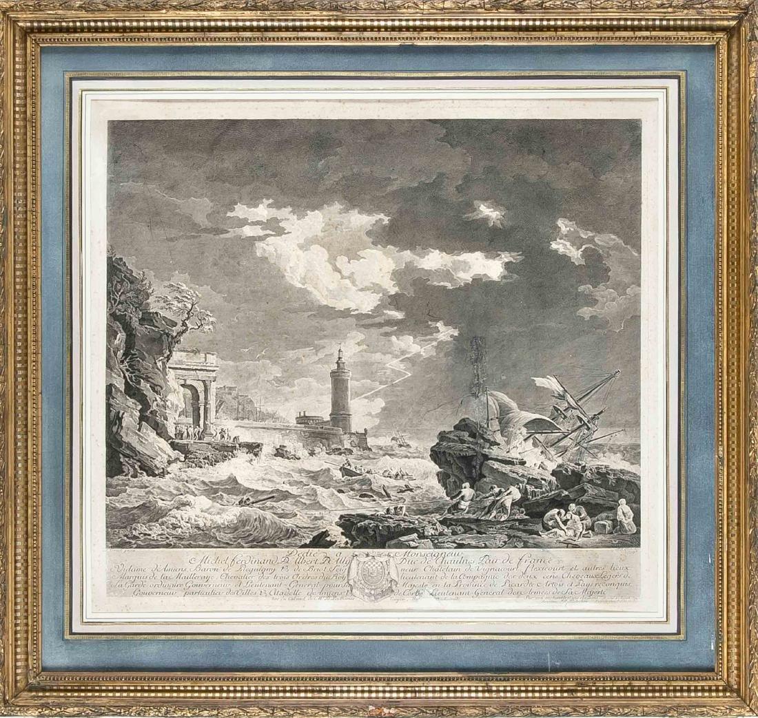 Joseph Vernet (1714-1789) after, Jean-Joseph Baléchou