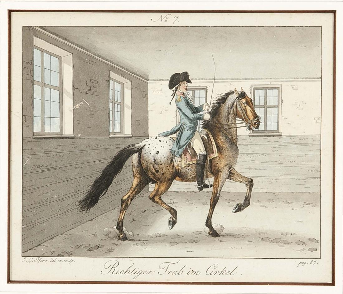 Johann Georg Pforr (1745-1798), zwei kolorierte