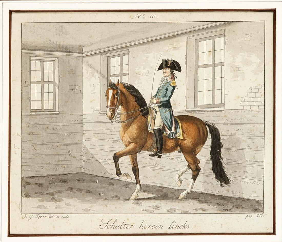Johann Georg Pforr (1745-1798), zwei kolorierte - 2