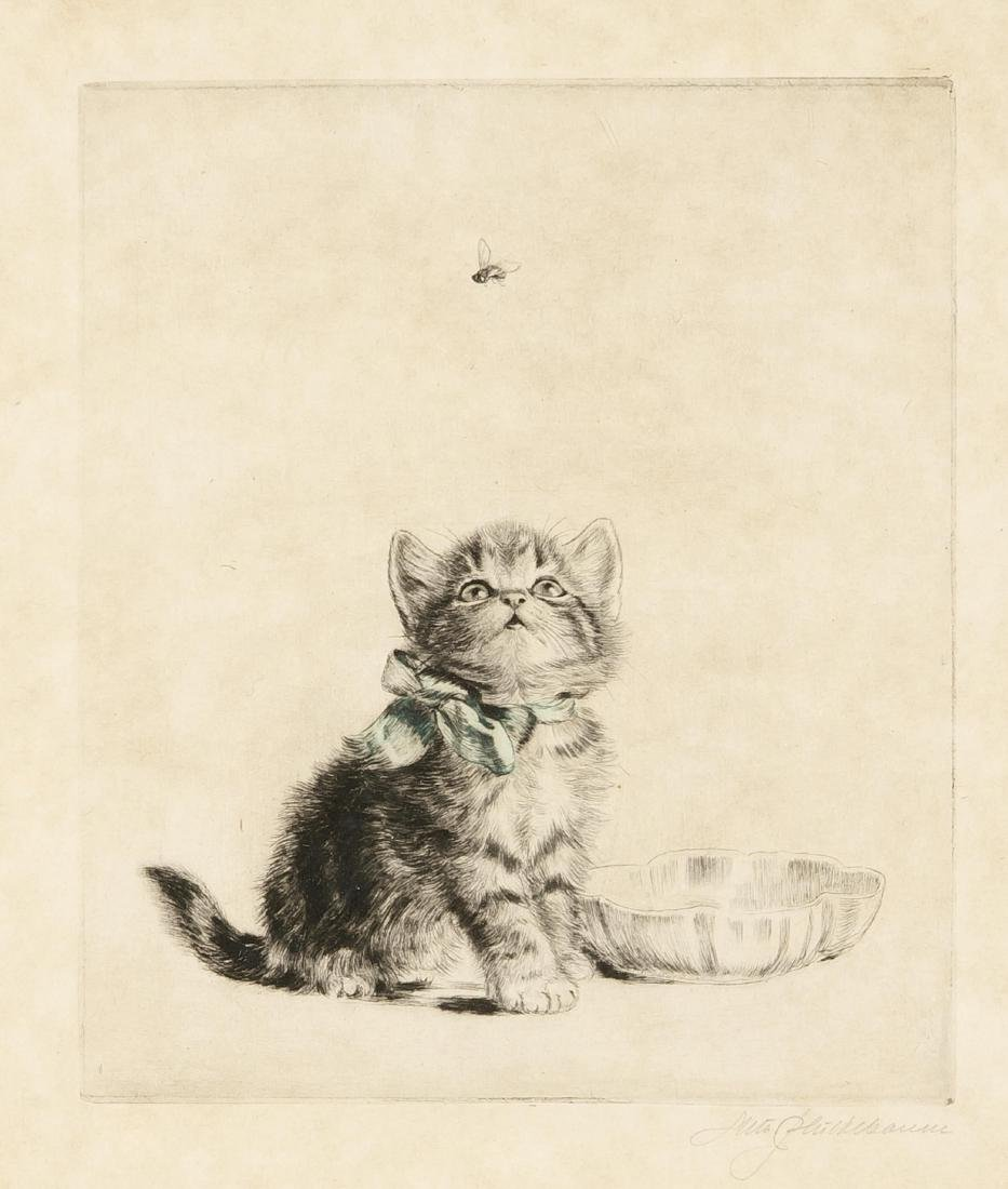 Meta Plückebaum (1876-1945), German cat painter and