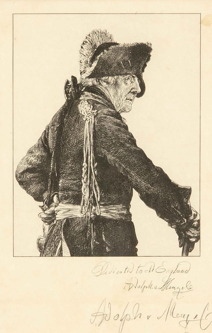 Konvolut von drei Grafiken, Alter Fritz von Adolph von
