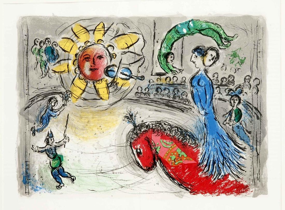 Marc Chagall (1887-1985), ''Soleil au Cheval rouge'',
