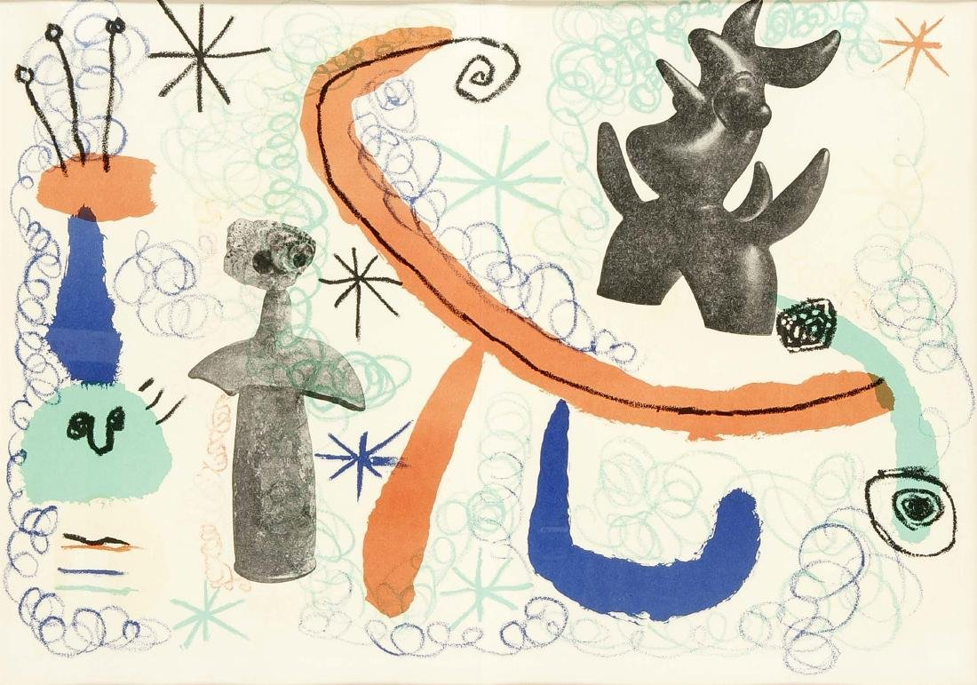 Joan Miró (1893-1983), color lithograph from Derrière