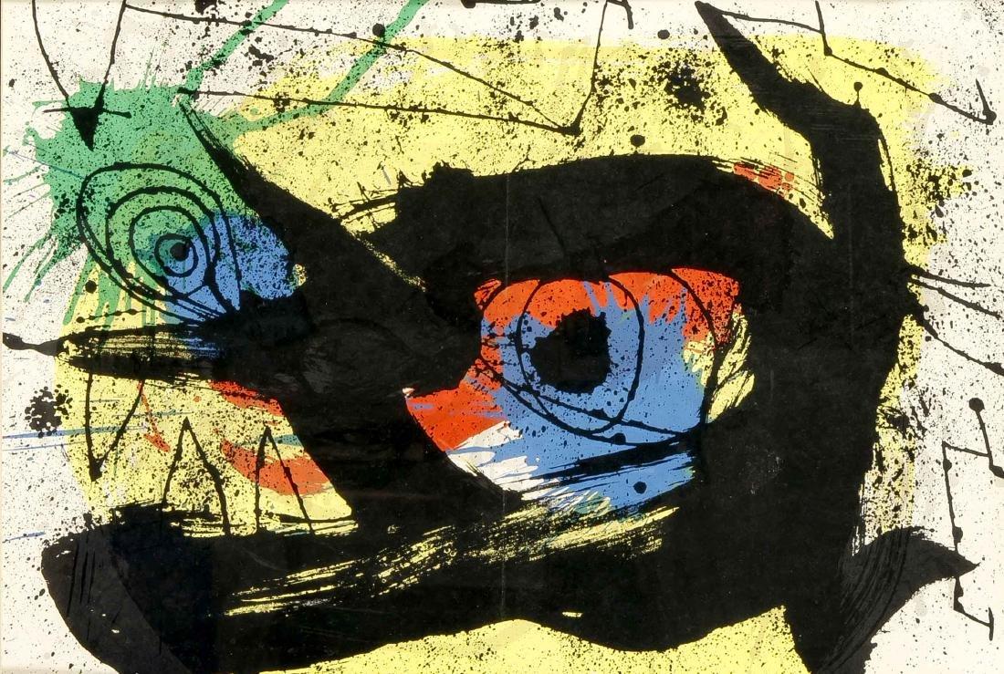 Joan Miró (1893-1983), color lithograph from Derrière