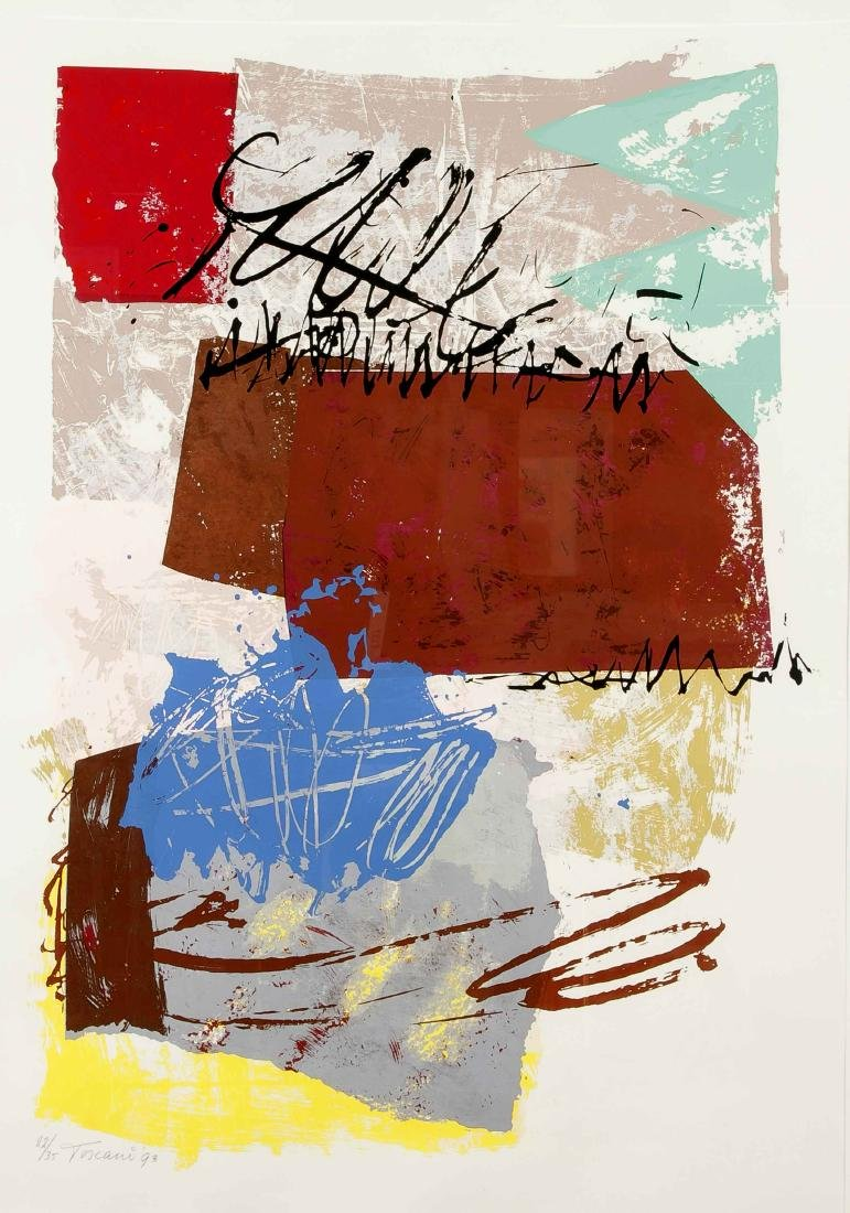 Bep Toscani (b. 1940), two large color serigraphs, each