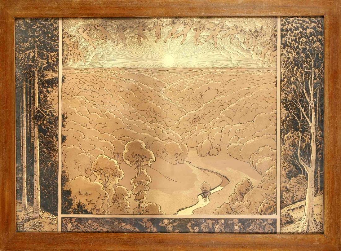 Hans Richard von Volkmann (1860-1927) very large Art