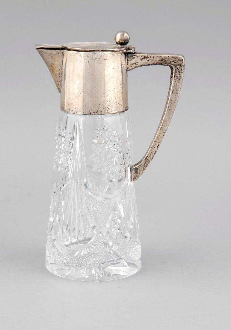 Mug with silver mounting, German, around 1920,