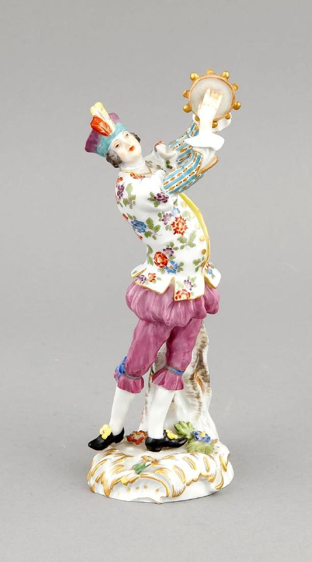 Tambourine player, Meissen, after 1973, 1st quality,