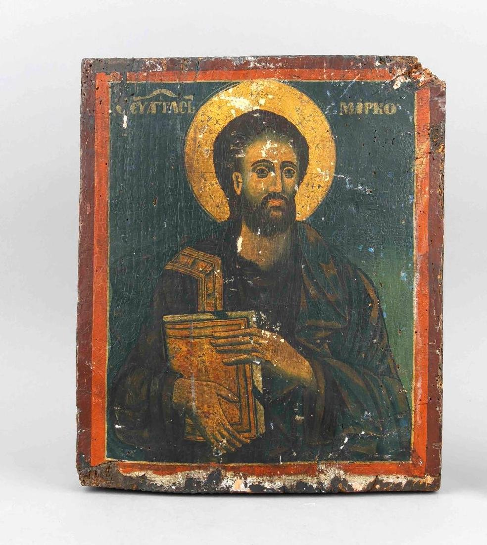 A 19th-century Russian icon of St. Marc the Evangelist,