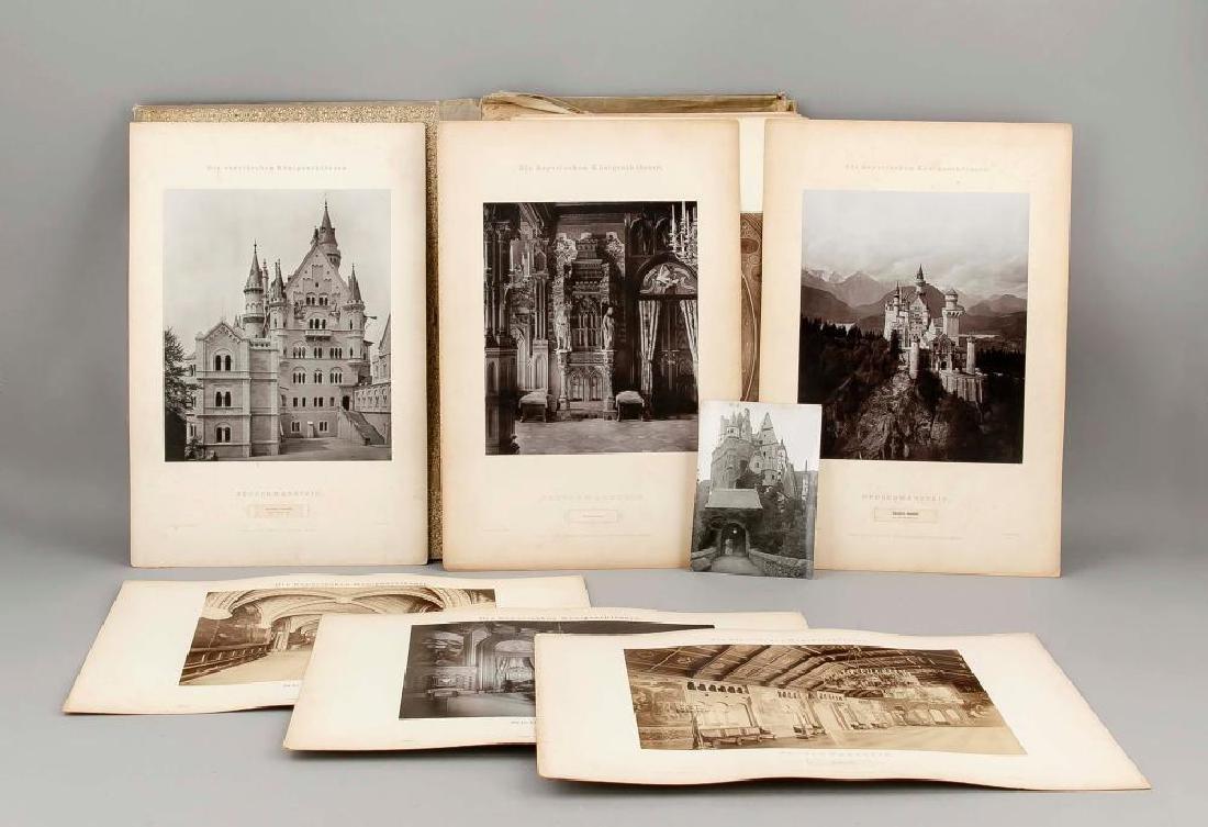 A rare Neuschwanstein photo album, Joseph Albert ''Die