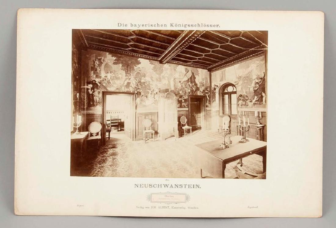 A rare Neuschwanstein photo album, Joseph Albert ''Die - 7