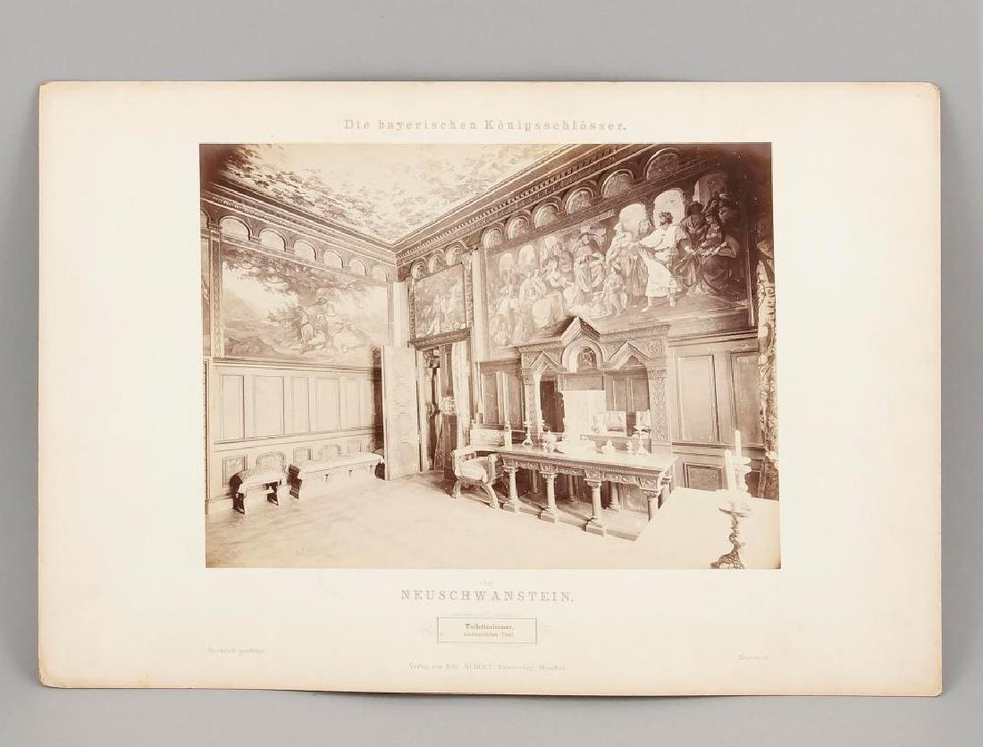 A rare Neuschwanstein photo album, Joseph Albert ''Die - 8