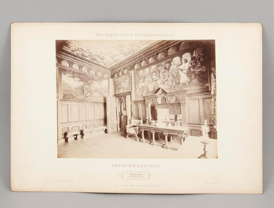 A rare Neuschwanstein photo album, Joseph Albert ''Die - 9