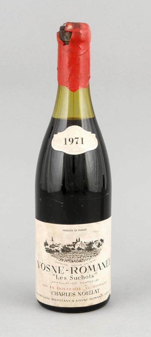 A bottle Les Suchots Vosne-Romanée, Premier Cru