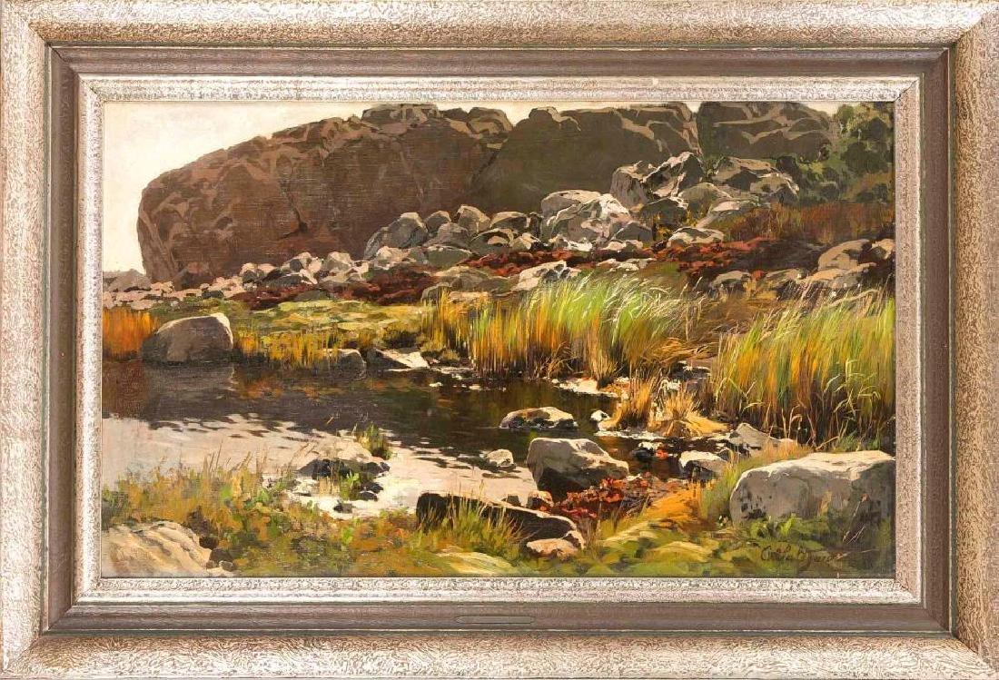 Carl Saltzmannn (1847-1923), Berlin landscape and