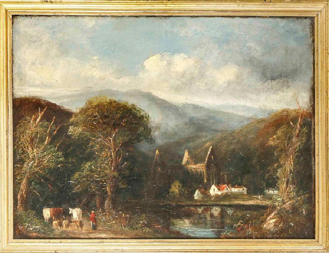 English landscape painter of the 19th century, mountain