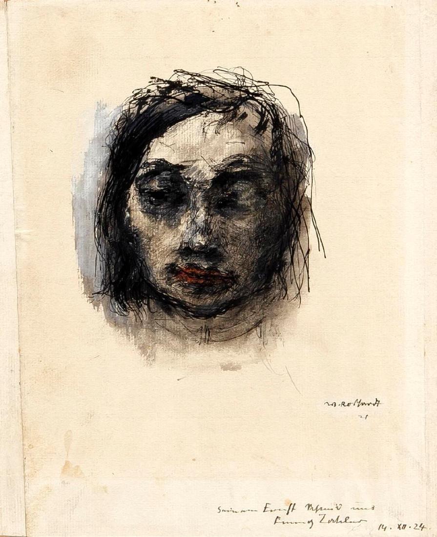 Walter Roshardt (1897-1966), two drawings, portrait of