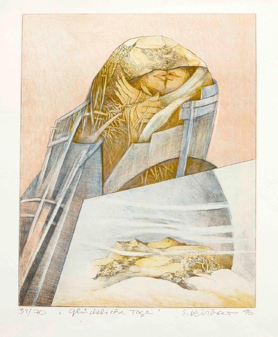Walter Roshardt (1897-1966), two drawings, portrait of - 2