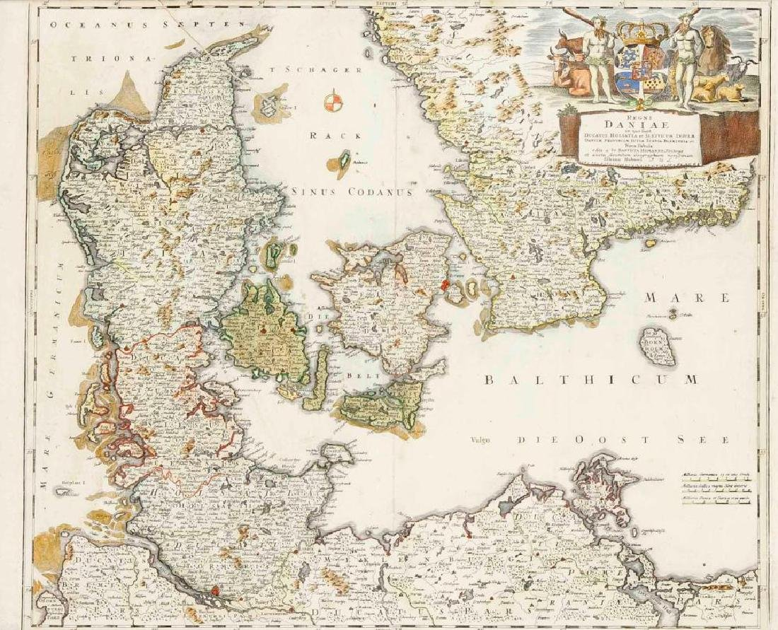 Two historical maps of the 18th century, Germany and