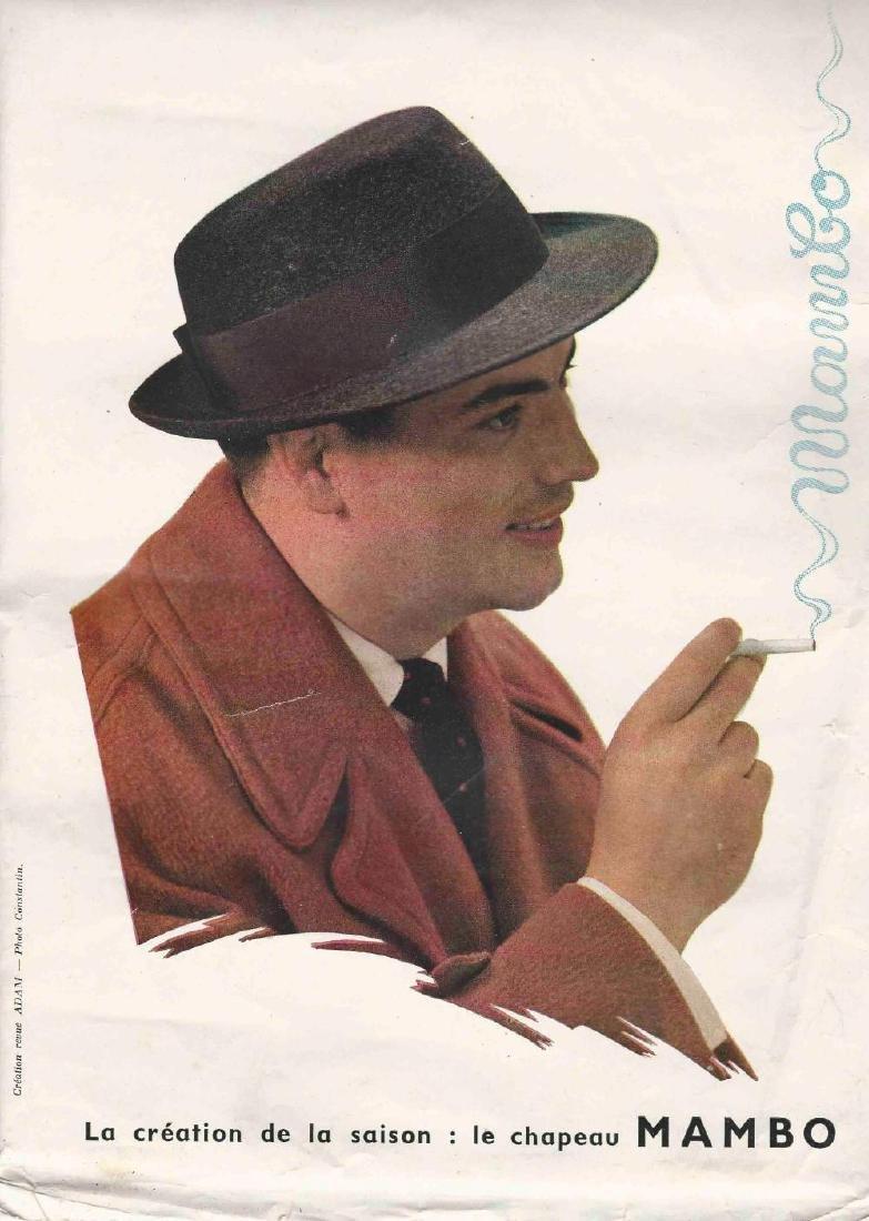 Konvolut Pierre Brice in der Werbung und im Film, 50er - 2