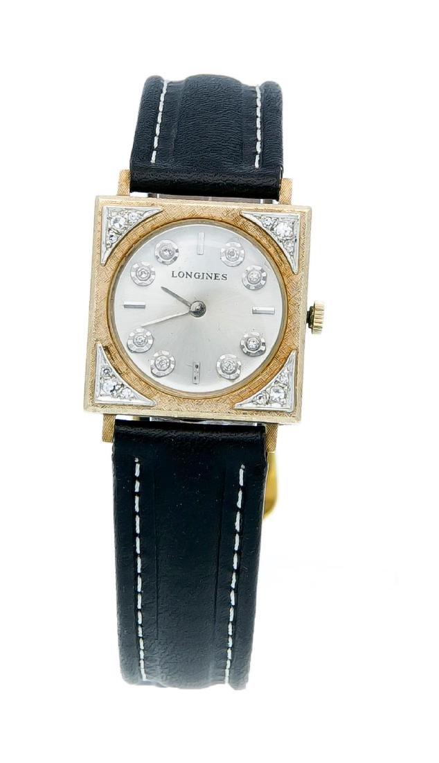 A Longines wristwatch 10