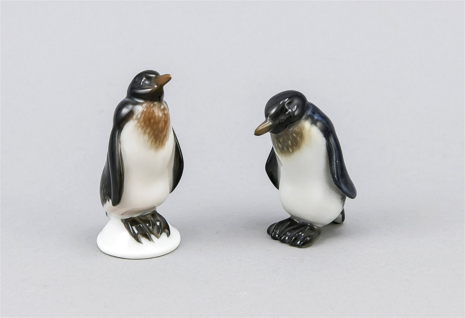 Two penguins, Rosenthal, Selb, mid-20th century