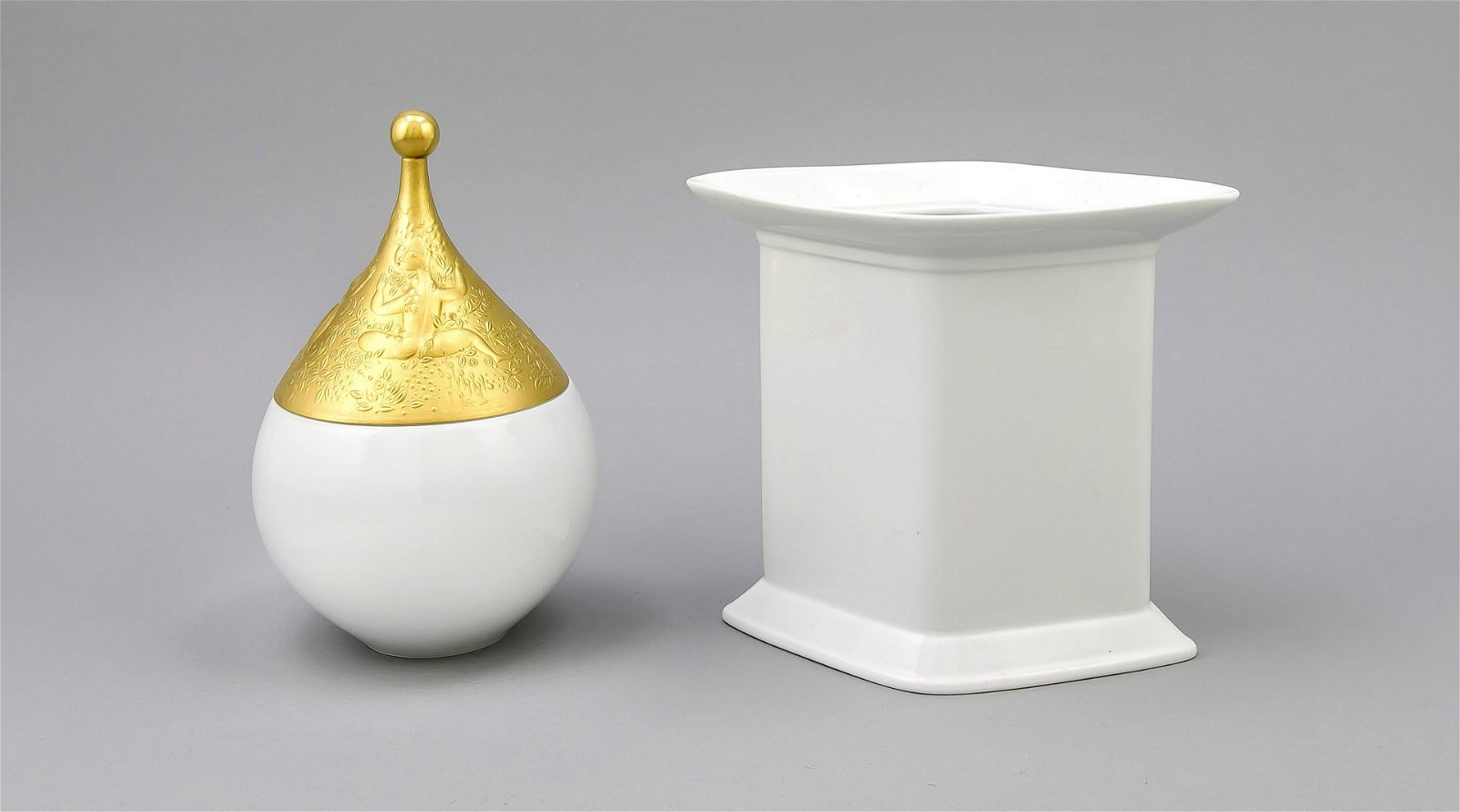 Large lidded box, Rosenthal, mark after 1957, from the