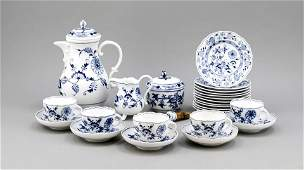 Coffee service for 12 pers 44 pcs Meissen swords