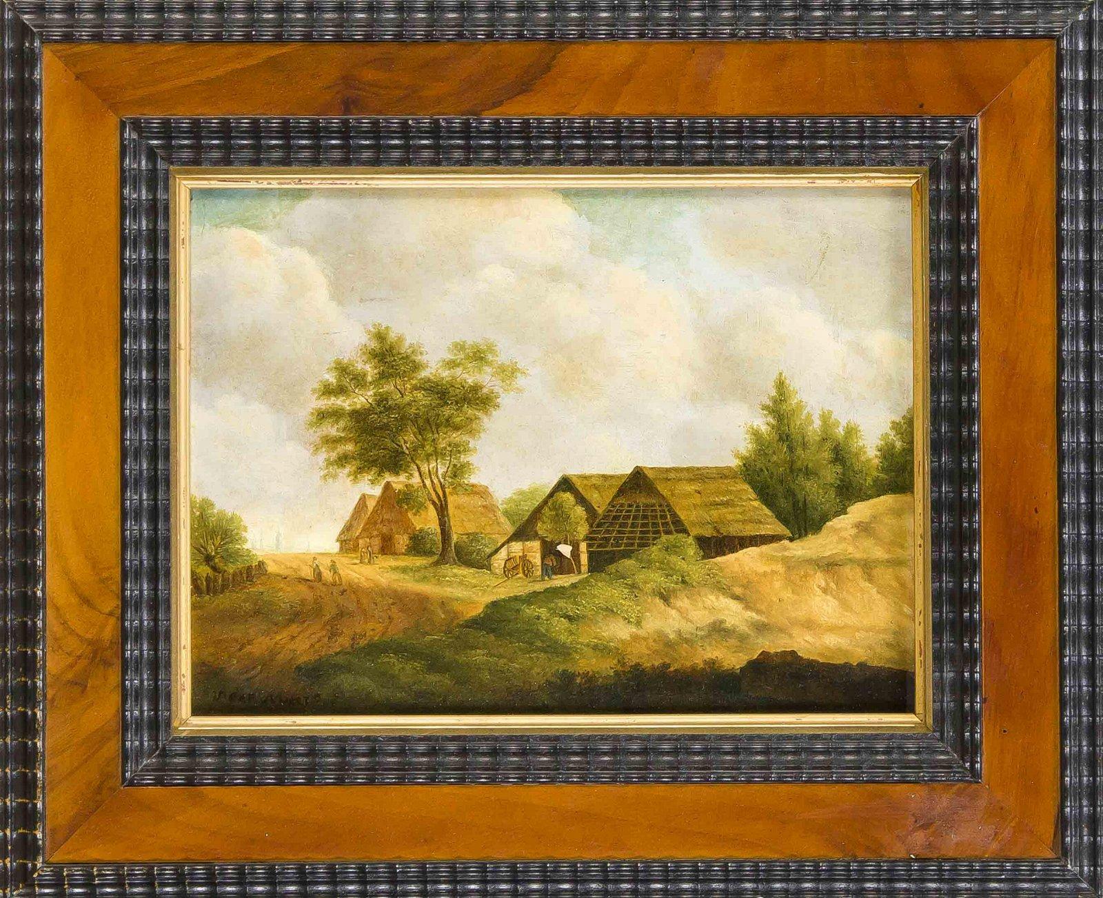 V. de Meer, Dutch painter of the 19th century, village