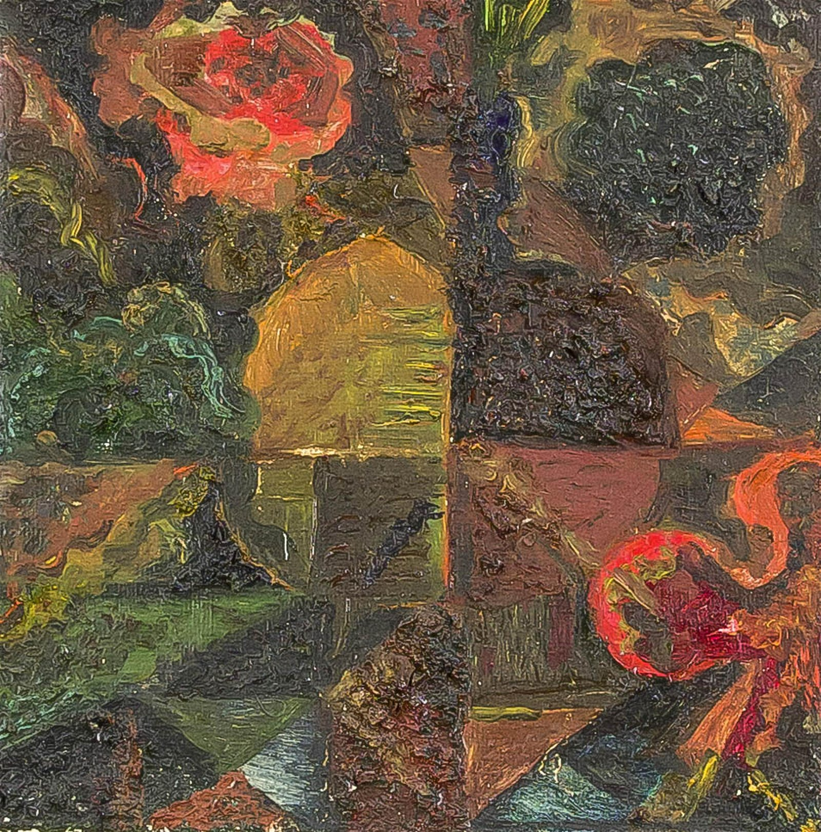 Two abstract or informal compositions by Russian