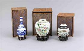 2 vases and a small