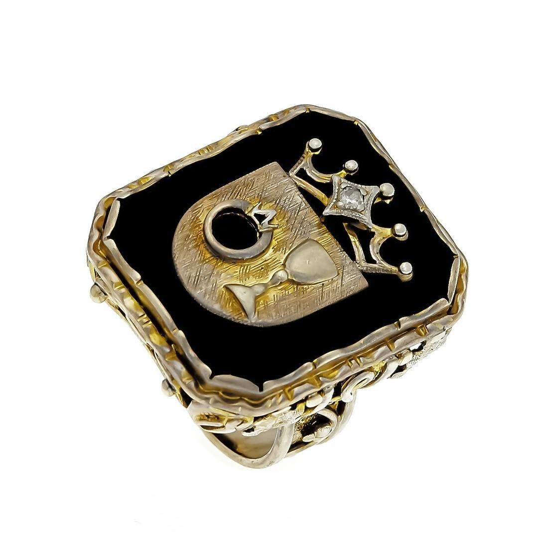 Onyx-Brillant-Ring GG 333